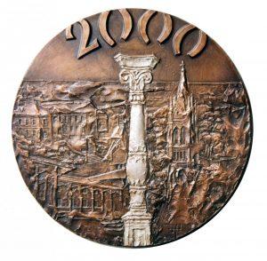 Kompozicija 2000. 2000 m. Bronza, lieta, Ø 18 cm