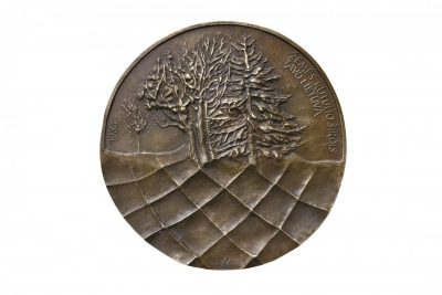 Salomėja Nėris. 1987 m. Bronza, lieta, Ø 10 cm