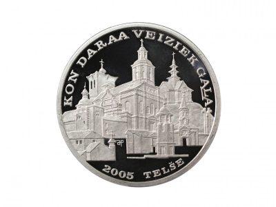Telšių miestui. 2006 m. Sidabras, kaltas, Ø 4 cm. Lietuvos monetų kalykla .Aversas