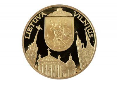 Vestuvės. 1995 m. Sidabras, žalvaris, kaltas, Ø 5,1 cm. Lietuvos monetų kalykla. Reversas